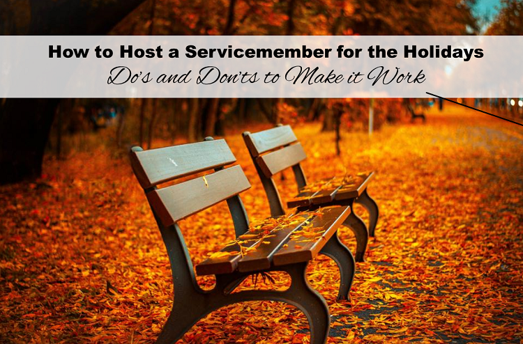How to host a service member for the holidays