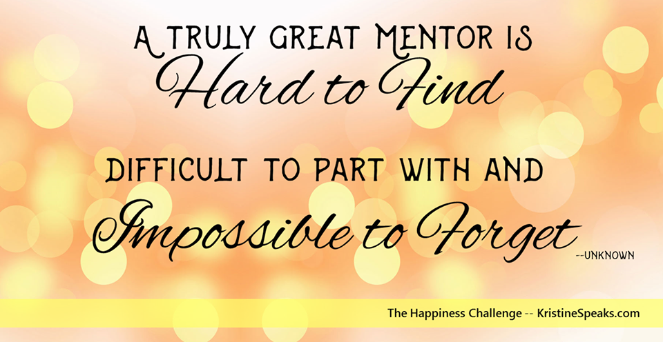 Happiness Challenge 6: I bet you've got a mentor