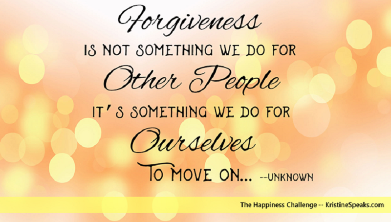 Happiness Challenge 7: Isn't it time you forgave them?